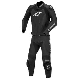 Black Alpinestars Mens Gp Pro Two Piece Leather Suit 2014 Eu 48