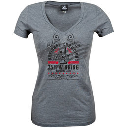 Speed & Strength Womens Vance & Hines Anniversary V-Neck T-Shirt