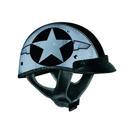 Black Vega Mens Xta Flight Line Half Helmet 2013