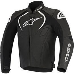 Alpinestars Mens Jaws Perforated Armored Leather Riding Jacket Black