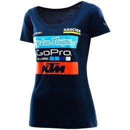 Troy Lee Designs Womens 2016 Team LTD KTM Graphic T-Shirt Blue