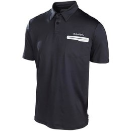 Troy Lee Designs Mens Primary Polyester Polo Shirt Black