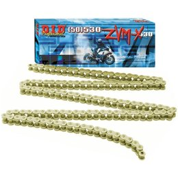 DID Chain 525 ZVM-X Super Street-120 Links Gold