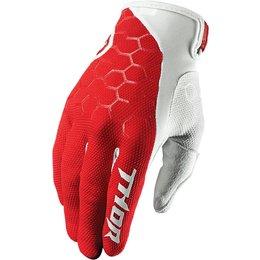 Thor Mens Draft Indi Mesh Street Riding Gloves Red