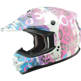 GMAX Womens Divas DSG GM76XS Leopard Snow Helmet Pink