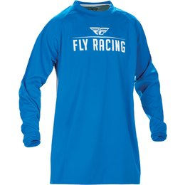 Fly Racing Mens MX Offroad Windproof Technical Jersey Blue