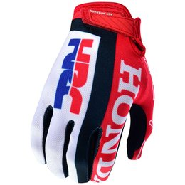 Troy Lee Designs Mens AIR Team Honda Ventilated MX Motocross Riding Gloves Red