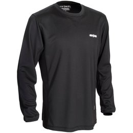 Black Cortech Mens Journey Coolmax Crew Neck Base Layer Shirt 2014