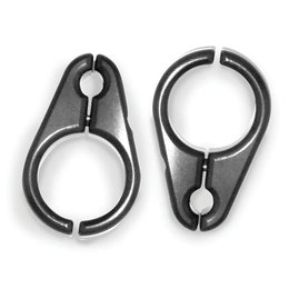 Black Modquad 5 16 Brake Line Clamps For 3 4 Inch A-arms Aluminum