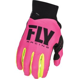 Fly Racing Youth Pro Lite Race Gloves Pink