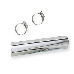 Chrome Cycle Shack 1-3 4 Inch Heat Shield Rear For Harley 86-03