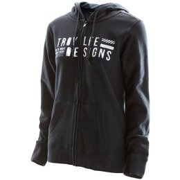 Troy Lee Designs Womens Etched Zip Up Hooded Sweatshirt Black
