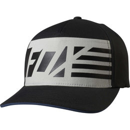 Fox Racing Mens Red White And True Flexfit Hat Black