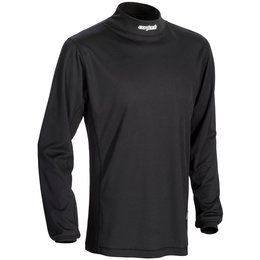 Black Cortech Mens Journey Coolmax Mock Neck Base Layer Shirt 2014