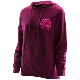 Troy Lee Designs Womens Mathis Cotton Blend Pullover Hoodie Red