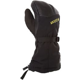 Klim Mens Tundra Gore-Tex Insulated Textile Split Finger Gloves Black