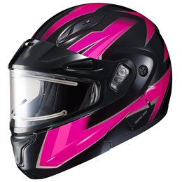HJC Womens CL-Max II 2 Ridge Electric Shield Modular Snowmobile Helmet Pink