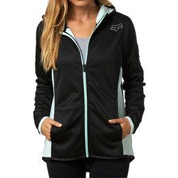 Fox Racing Womens Hail Zip Up Hoody Sweatshirt Black