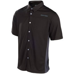 Troy Lee Designs Mens Compound Pit Polyester Button Up Shirt Black