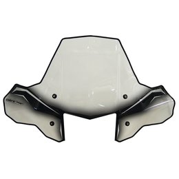 Powermadd ATV Cobra ProTek Windshield With Fixed Mount Headlight Cut-Out 24570 Transparent