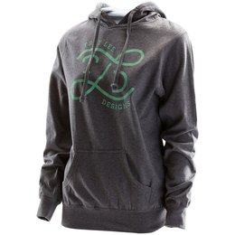 Troy Lee Designs Womens Downtown Cotton Blend Pullover Hoodie Grey