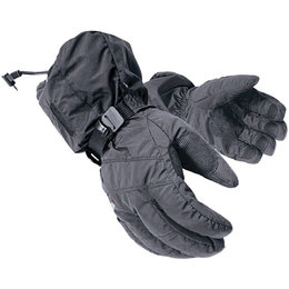 Black Mobile Warming Textile Gloves