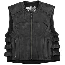 Black Brand Mens Ice Pick Perforated KoolTek Leather Vest