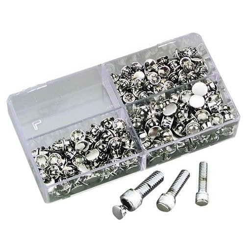 """SSC7 10 pack M12 Chrome plated push-In Allen Hole Plug cover 7//16-1//2/"""""""