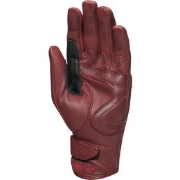 RSD Womens Riot Quilted Leather Riding Gloves Red