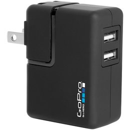 GoPro Wall Charger With International Adapters For HD/Hero/2/3/3+/4 Camera Black Black