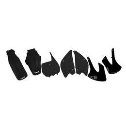 UFO Plastics Complete Plastics Kit Black For Kawasaki KLX110