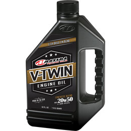 Maxima V-Twin Synthetic Blend All-Weather Engine Oil 20W-50 32 Oz 30-14901 Unpainted
