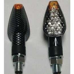 Carbon Bodies, Clear Lenses Dmp Led Marker Lights Dual Indicator Long Carbon Clear