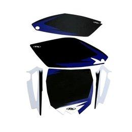 Factory Effex Precut Trim Backgrounds Black For Yamaha YZ250F 2010-2013 13-64228