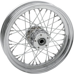 Drag Specialties 16x3 40 Spoke Laced Chrome Rear Wheel Harley 0204-0424