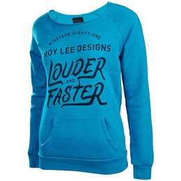 Troy Lee Designs Womens Misfit Raglan Pullover Top Blue