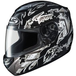Black Hjc Cs-r2 Skarr Full Face Helmet