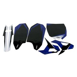 Factory Effex Precut Trim Backgrounds Black For Yamaha YZ450F 2011-2013 13-64232
