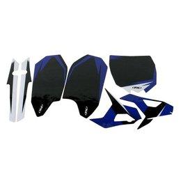 Factory Effex Precut Trim Backgrounds Black For Yamaha YZ450F 2011-2013 13-64232