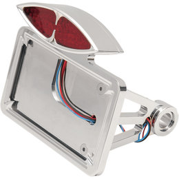 Drag Specialties Art Deco Horizontal Taillight/Plate Mount For Harley 2030-0169
