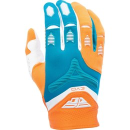 Fly Racing Youth Boys MX Offroad Evolution Riding Gloves Orange, Teal