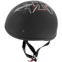 Flat Black Skid Lid Original Street Rod Helmet Black