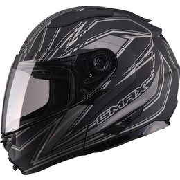 GMax GM64 Derk Modular Helmet With Flip Up Chin Bar Black