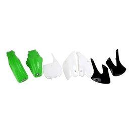 UFO Plastics Complete Replacement Plastics Kit Black Green White For Kaw KLX110
