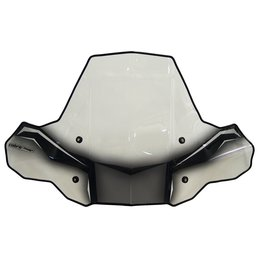 Powermadd ATV Cobra ProTek Windshield Fixed Mount No Headlight Cut-Out 24571 Transparent