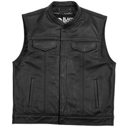 Black Brand Mens Club Leather Vest