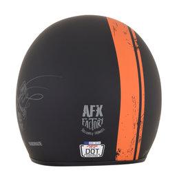 AFX FX-76 FX76 Raceway Open Face Helmet Black