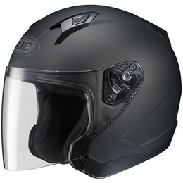 Black Hjc Mens Cl-jet Matte Open Face Helmet 2014