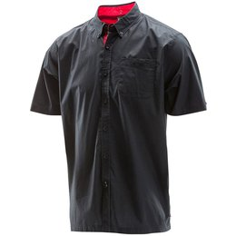 Troy Lee Designs Mens Shop Cotton Blend Button Up Shirt Black