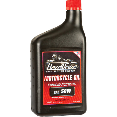 HardDrive Single Weight Engine Oil 50 Wt 1 Qt For Harley V-Twin 2803-042E